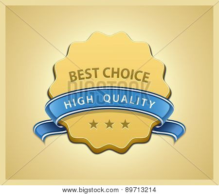 Best choice and high quality seal. Vector illustration