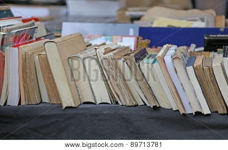 Long Line Of Antique Very Rare Books For Sale