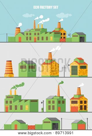 Set of ecology factory