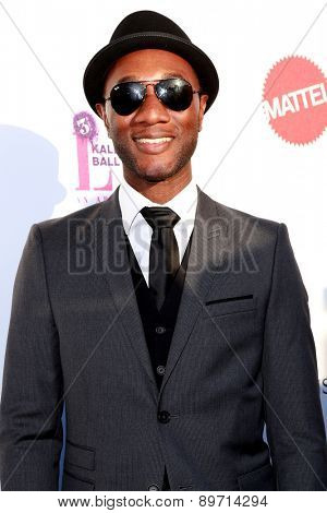 LOS ANGELES - MAY 2:  Aloe Blacc at the 3rd Annual Mattel Children's Hospital Kaleidoscope Ball at the 3Labs on May 2, 2015 in Culver City, CA