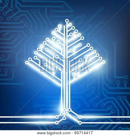 Circuit Board In The Form Of A Tree