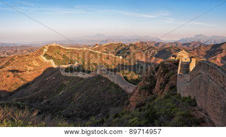 Sunrise of Jinshanling Great Wall