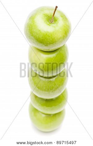 Stack Of Green Apples