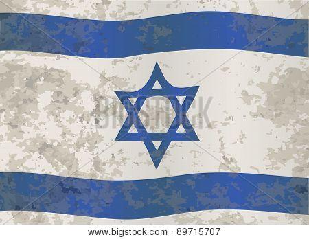 Israel Flag Grunge
