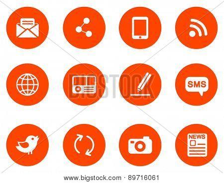 Communication  icons. Set 2 .Vector