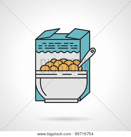 Breakfast cereal flat vector icon