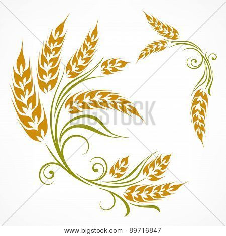 Stylized Wheat Pattern