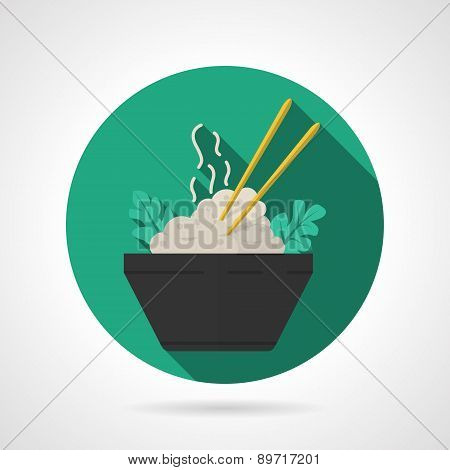 Rice dish flat vector icon