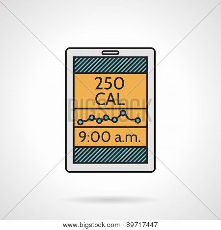 Calorie counter flat vector icon