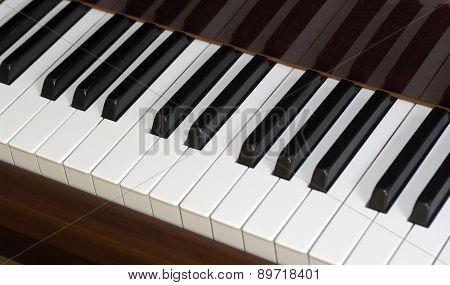 Close Up Of A Keyboard Piano