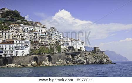Beautiful Panoramic View Of Amalfi