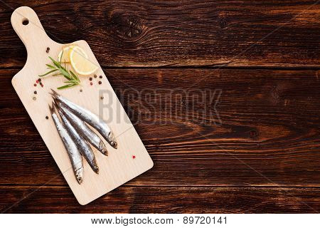 Seafood Background With Copy Space.