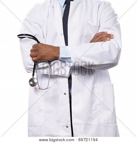 African Doctor With A Stethoscope