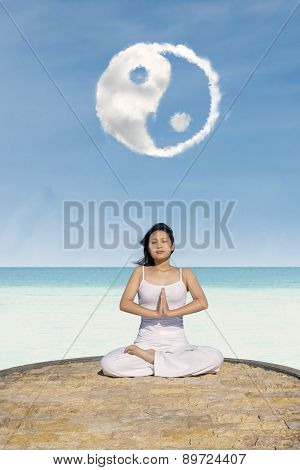 Meditating Under Yin Yang Cloud