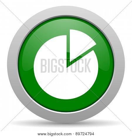 chart green glossy web icon
