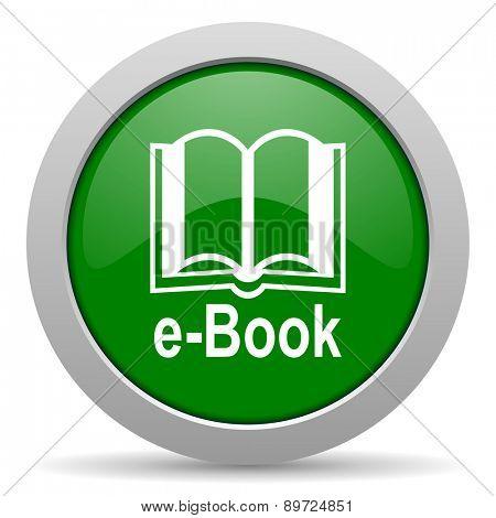 book green glossy web icon