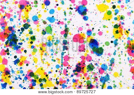 Colorful splashes of paint as background