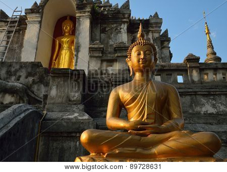 Thai Temple Of Buddhism, Wat Phra Yuen Is Thai Temple In Lamphun, Northern Thailand, Thailand