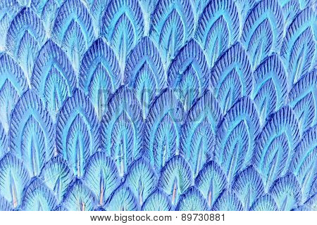 Abstract Blue Stucco Feather