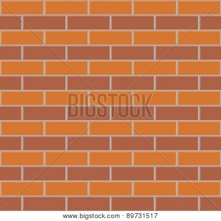 Two color brick wall seamless vector background.