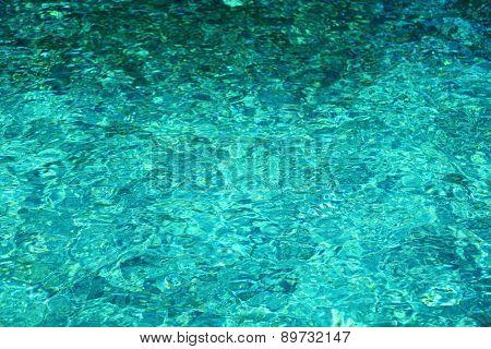 View of beautiful blue ocean water in resort