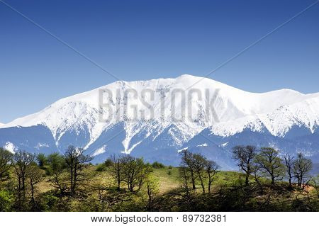 Alpine landscape in the Transylvanian Alps, Romania, Europe