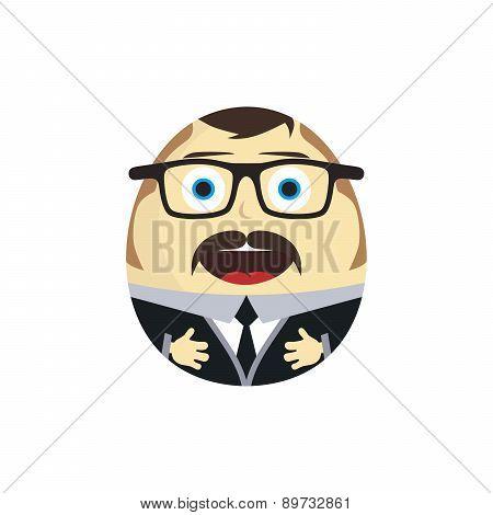 businessman daruma doll