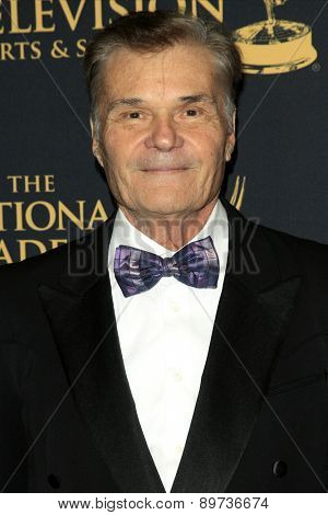 LOS ANGELES - APR 24: Fred Willard at The 42nd Daytime Creative Arts Emmy Awards Gala at the Universal Hilton Hotel on April 24, 2015 in Los Angeles, California