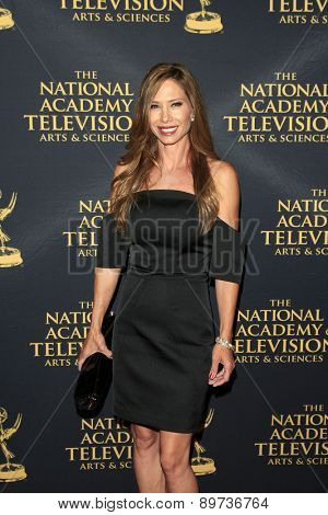 LOS ANGELES - APR 24: Sarah Brown at The 42nd Daytime Creative Arts Emmy Awards Gala at the Universal Hilton Hotel on April 24, 2015 in Los Angeles, California