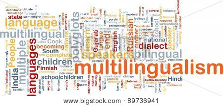 Background text pattern concept wordcloud illustration of of multilingualism