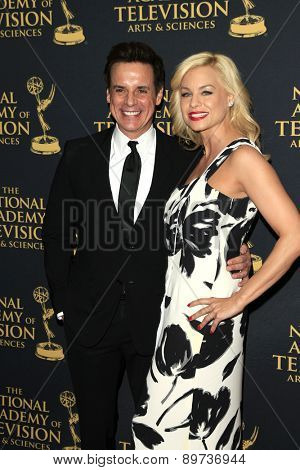 LOS ANGELES - APR 24: Christian LeBlanc, Jessica Collins at The 42nd Daytime Creative Arts Emmy Awards Gala at the Universal Hilton Hotel on April 24, 2015 in Los Angeles, California
