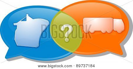 Illustration concept clipart speech bubble dialog conversation negotiation argument