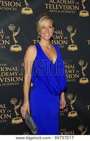 LOS ANGELES - APR 24: Laura Wright at The 42nd Daytime Creative Arts Emmy Awards Gala at the Universal Hilton Hotel on April 24, 2015 in Los Angeles, California