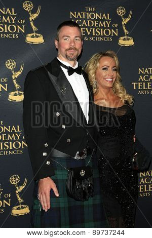 LOS ANGELES - APR 24: Dr Pete Black, Rachel Reenstra at The 42nd Daytime Creative Arts Emmy Awards Gala at the Universal Hilton Hotel on April 24, 2015 in Los Angeles, California
