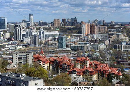 Kiev, Ukraine, April 20, 2015. Kiev cityscape