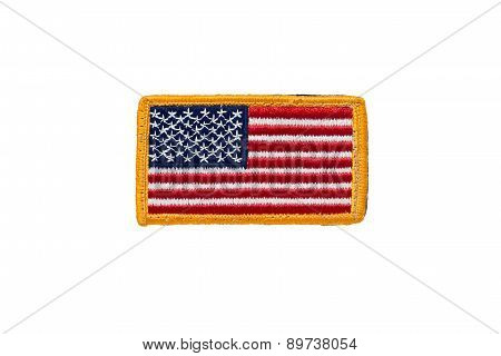 Rounded American flag patch