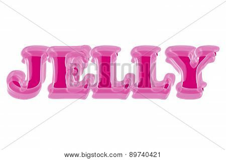 Pink Jelly 3D text