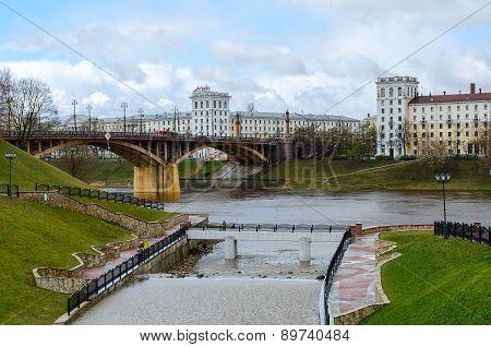 View Of Estuary Of Vitba And Kirov Bridge, Vitebsk