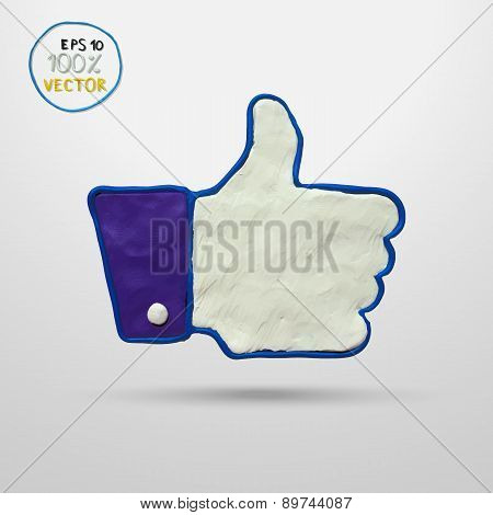 Thumb up applique