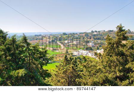 Panoramic view of Locorotondo. Puglia. Southern Italy.