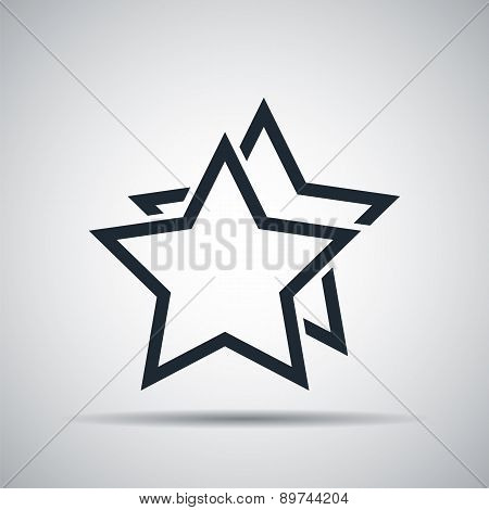 outline stars favorite or best choice icon