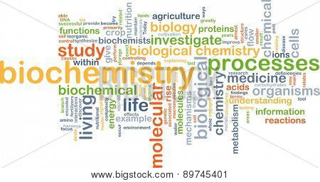 Background text pattern concept wordcloud illustration of biochemistry