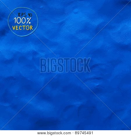 Plasticine finger textured blue color background