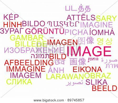 Background concept wordcloud multilanguage international many language illustration of image