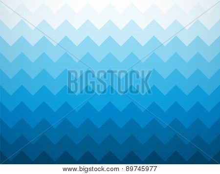 Modern Jagged Blue Ocean Background