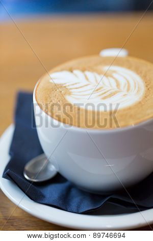 A Close-up Photo Of A Flat White