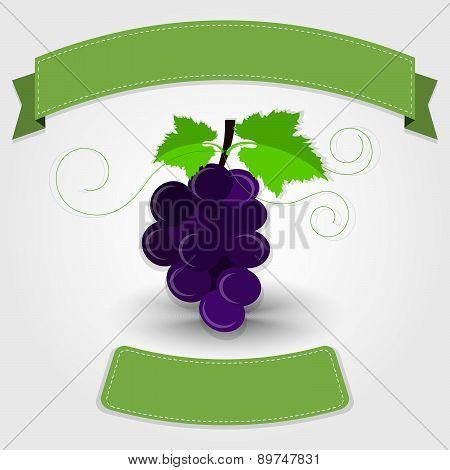 Grape With Ribbon
