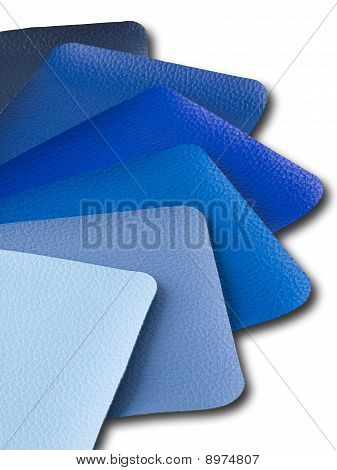 Blue Tone leather color sample