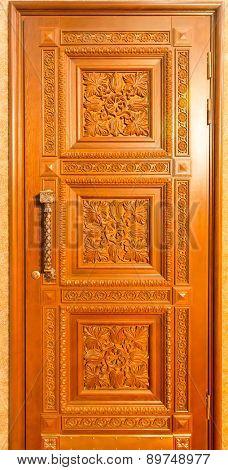 Facade of wooden door