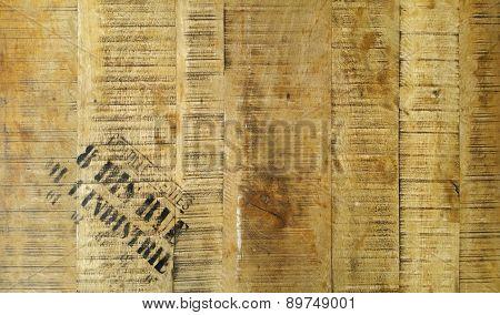 Wood board surface